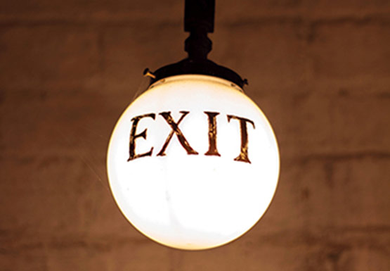 Light with exit sign