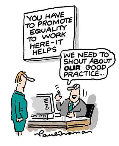 Image result for inclusive leader cartoon
