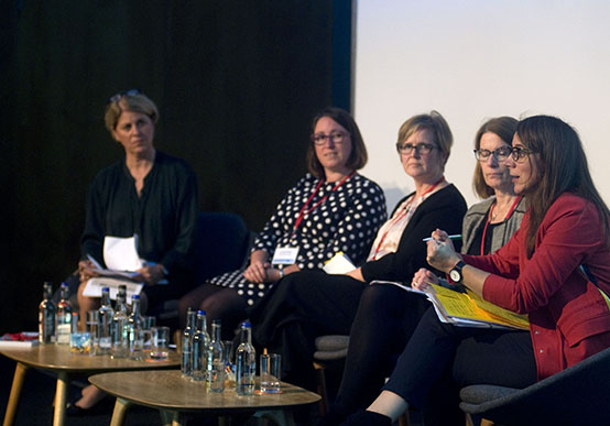 UNISON head of health Sara Gorton speaks in the debate, which was chaired by Channel 4's Victoria Macdonald