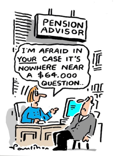Pensions cartoon