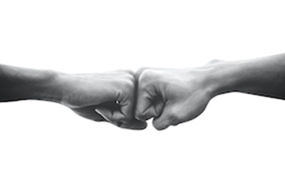 image of fist bump