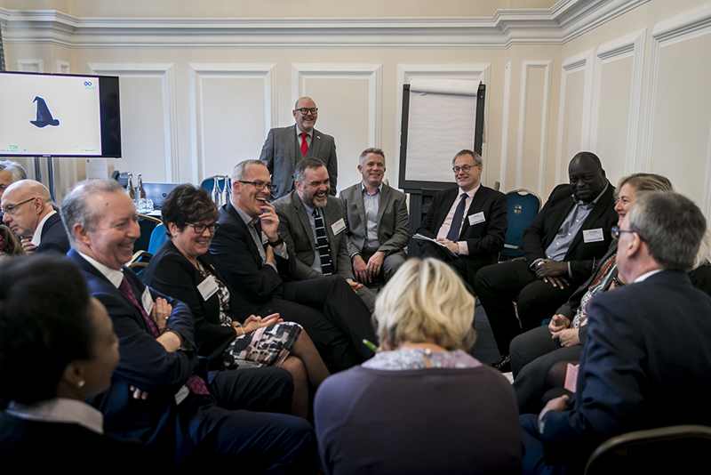 Paul Taylor-Pitt (centre) lead a frank discussion about perceptions of NHS managers at the MiP Members' Summit in October 2017 - the catalyst for the union's new Managers Matter campaign.