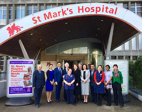 Members of the gastroenterology department who worked on the outpatients project at St Mark's Hospital.