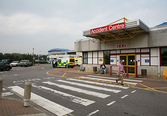 Accident & Emergency entrance to Royal Bournemouth Hospital