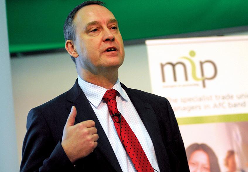 Matthew Swindells speaking at MiP's conference