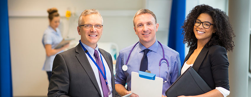 Three NHS managers